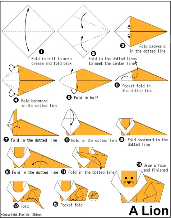 Origami Animal Instructions