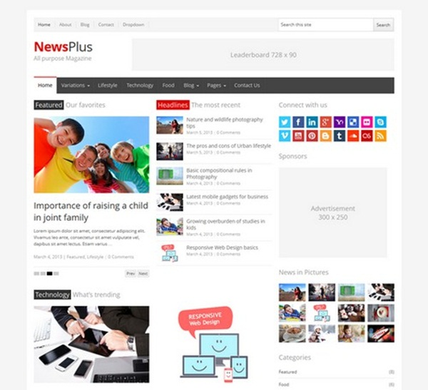 WordPress magazine Themes (15)