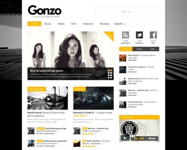 WordPress magazine Themes (5)