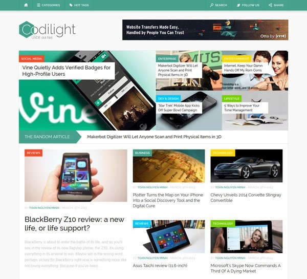 WordPress magazine Themes (9)