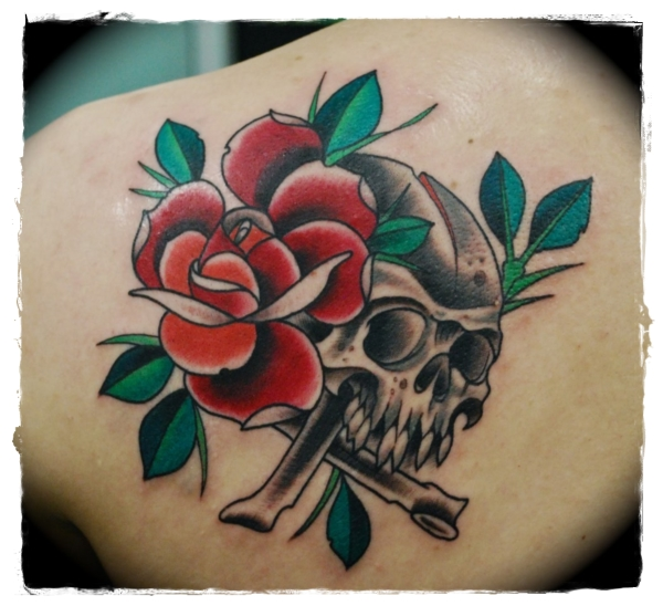 Skull-and-Rose-Tattoo