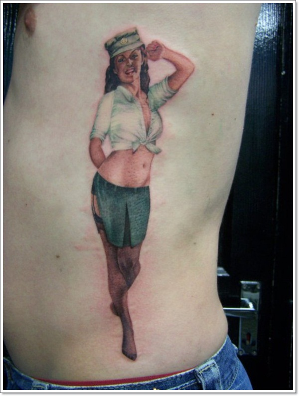 David-Corden-Military-Pin-Up-Girl-Tattoo