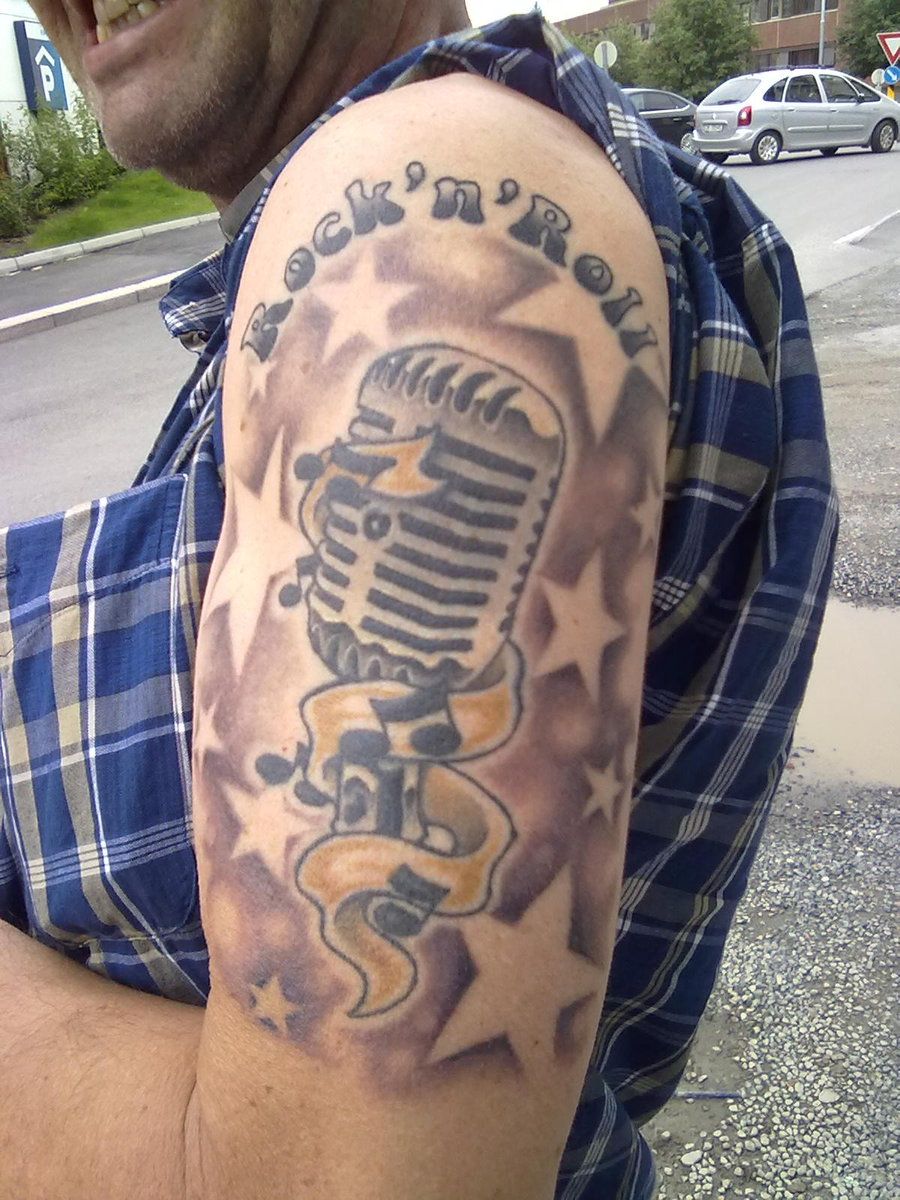 Microphone Tattoo Designs