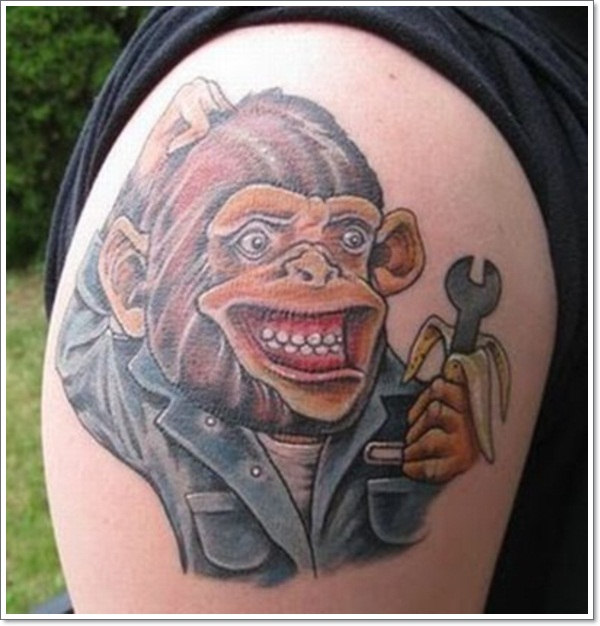 7ccbb0b58d54c 15 Cool and Creative Monkey Tattoos - Grease Monkey | Guff
