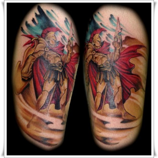 Roman Warrior Tattoo  5