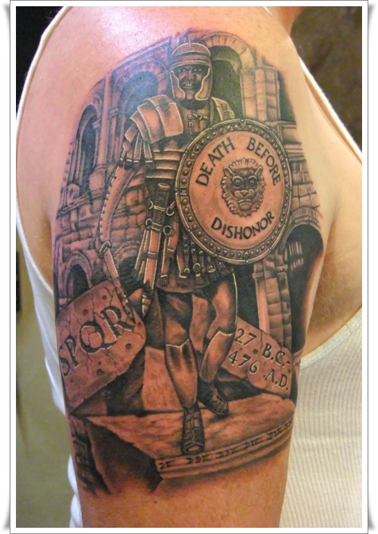 Roman Warrior Tattoo