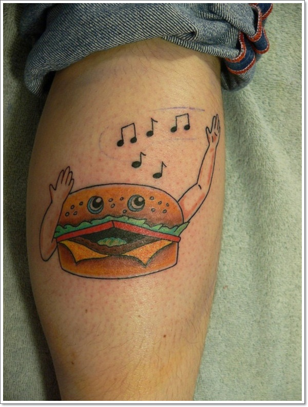 40 food tattoos that look good enough to eat for Funny tattoos ideas
