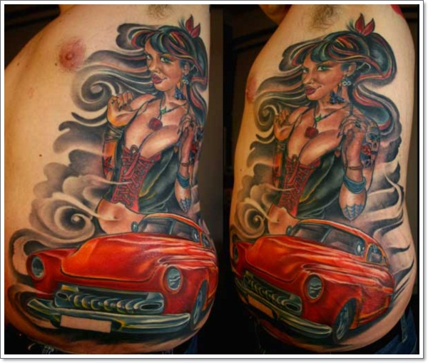 30 of the most amazing car and motorcycle tattoo designs. Black Bedroom Furniture Sets. Home Design Ideas