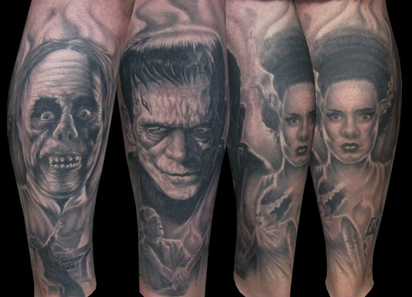 20 awesomely creepy horror tattoo designs for Evil tattoo sleeve