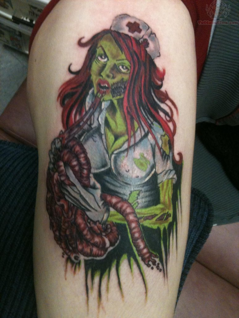 20 awesomely creepy horror tattoo designs. Black Bedroom Furniture Sets. Home Design Ideas