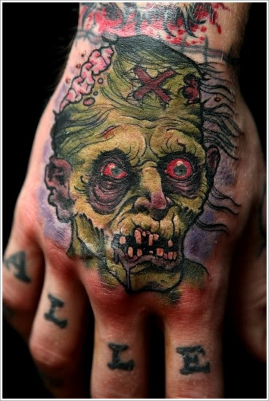 20 awesomely creepy horror tattoo designs for How long after a tattoo can you go swimming