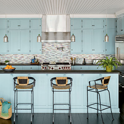 25 beach inspired ideas for your home for Beach inspired kitchen designs