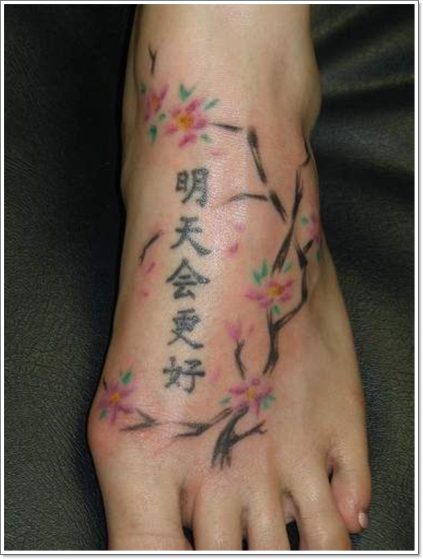 chinese tattoos leg