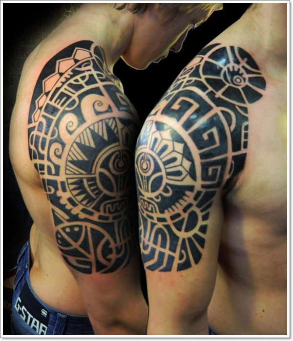 Half Sleeve Tattoo Design Template Aztec-half-sleeve-tattoos
