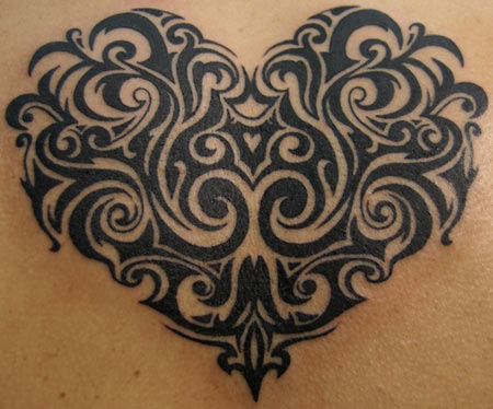 Tribal Heart Tattoos For Women