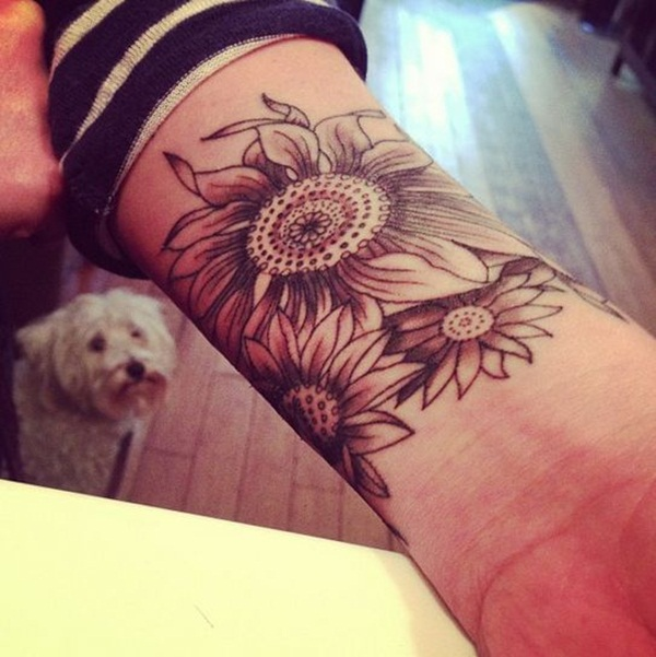 40 awesome wrist tattoo ideas for inspiration for Daisy of love tattoo sleeve
