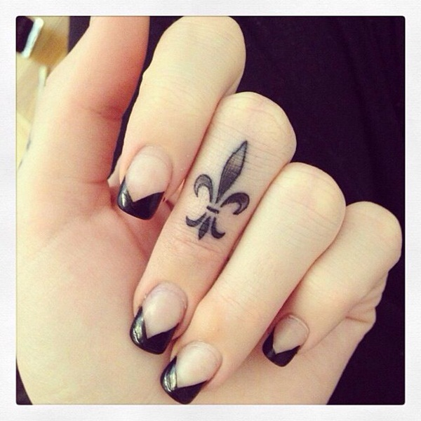 40 cute finger tattoo designs for girls for Finger tattoo ideas