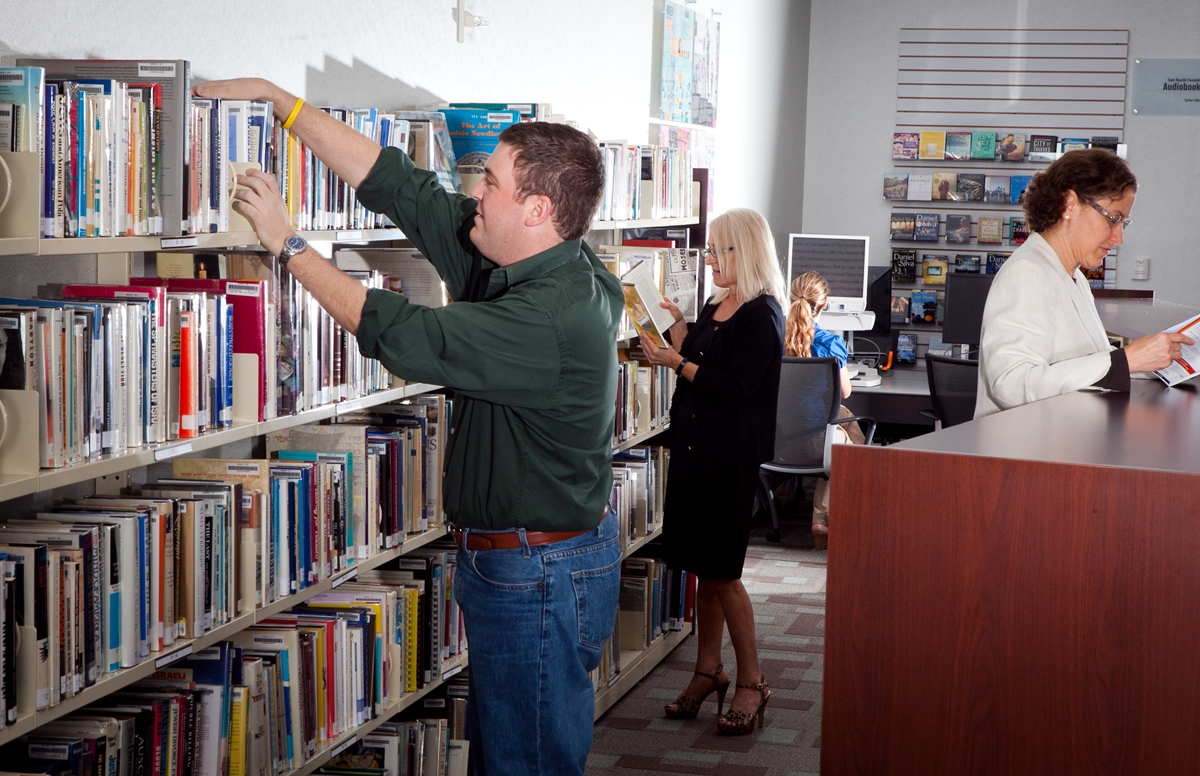 browsing a library