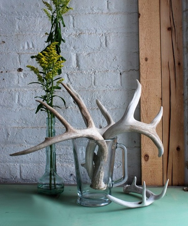 40 creative antlers decoration ideas for Antler decorations for home