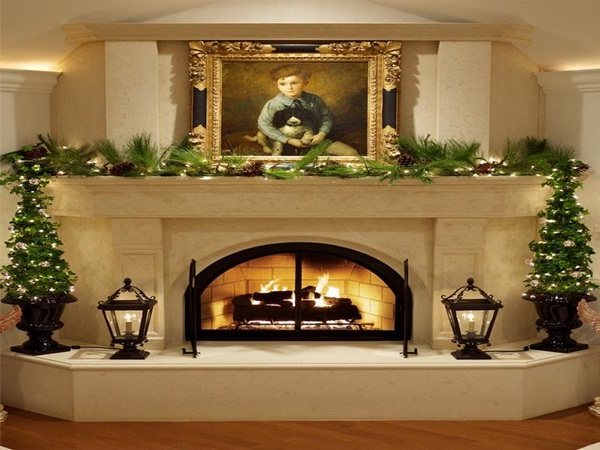 40 fabulous fireplace ideas for this fall for How to decorate a fireplace for christmas