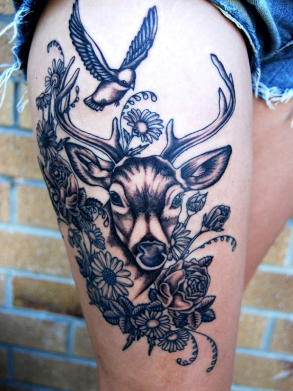 Inspiring Deer Tattoo Designs You May Fall In Love With (43)