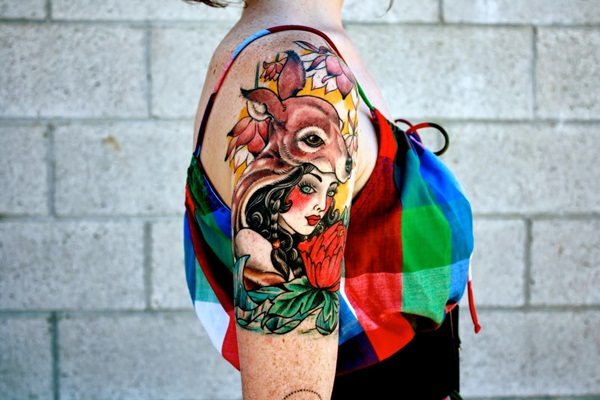 Inspiring Deer Tattoo Designs You May Fall In Love With (46)