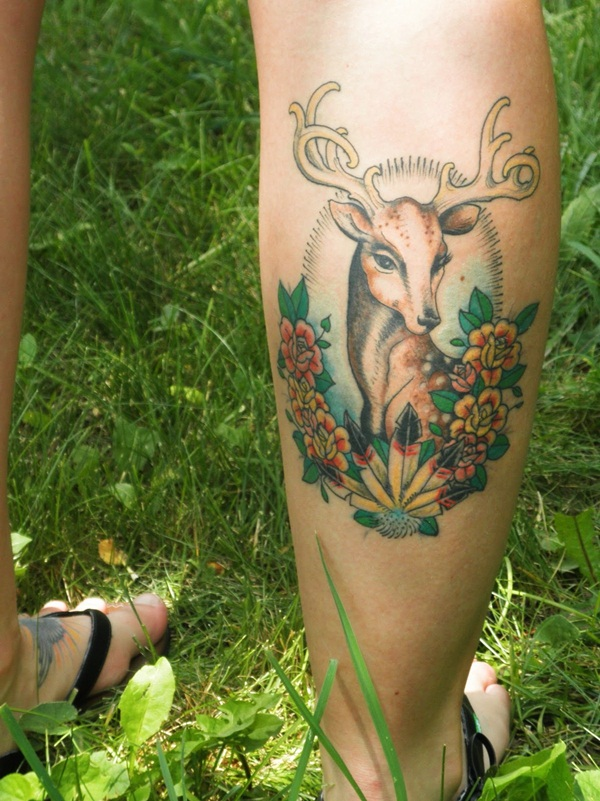 Inspiring Deer Tattoo Designs You May Fall In Love With (61)
