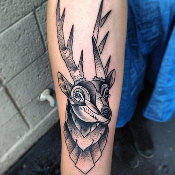 Inspiring Deer Tattoo Designs You May Fall In Love With (62)
