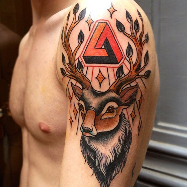Inspiring Deer Tattoo Designs You May Fall In Love With (67)