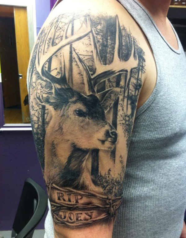 Inspiring Deer Tattoo Designs You May Fall In Love With (70)