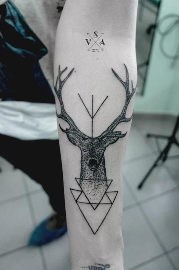 Simple and stunning Triangle Tattoo designs (44)