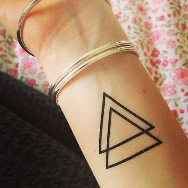 Simple and stunning Triangle Tattoo designs (45)