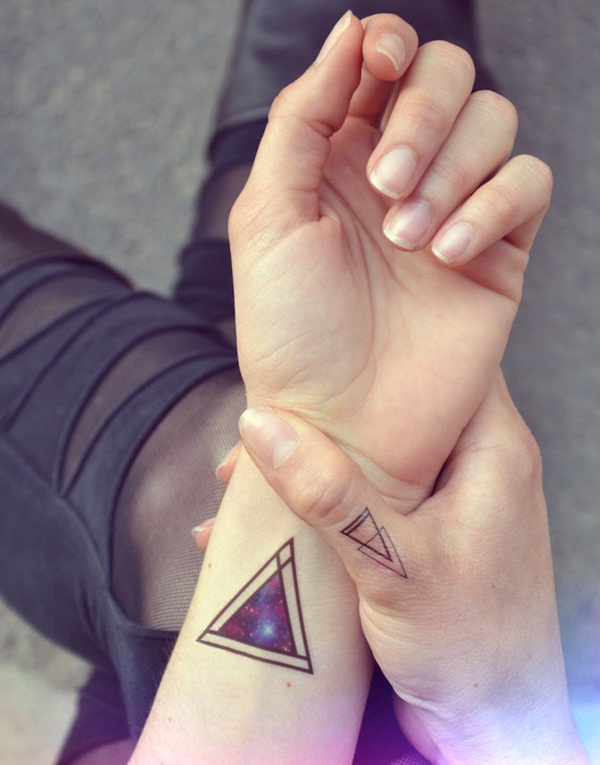 Simple and stunning Triangle Tattoo designs (52)