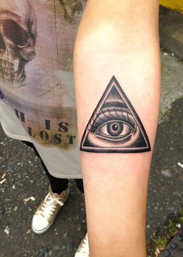 Simple and stunning Triangle Tattoo designs (59)