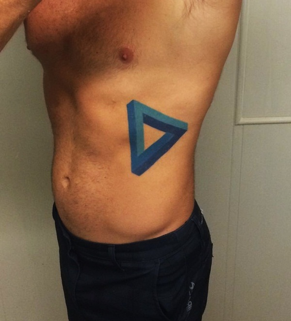 Simple and stunning Triangle Tattoo designs (77)