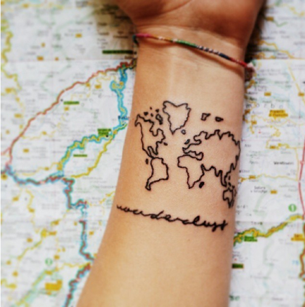 Smart Map Tattoo Design and Ideas (1)