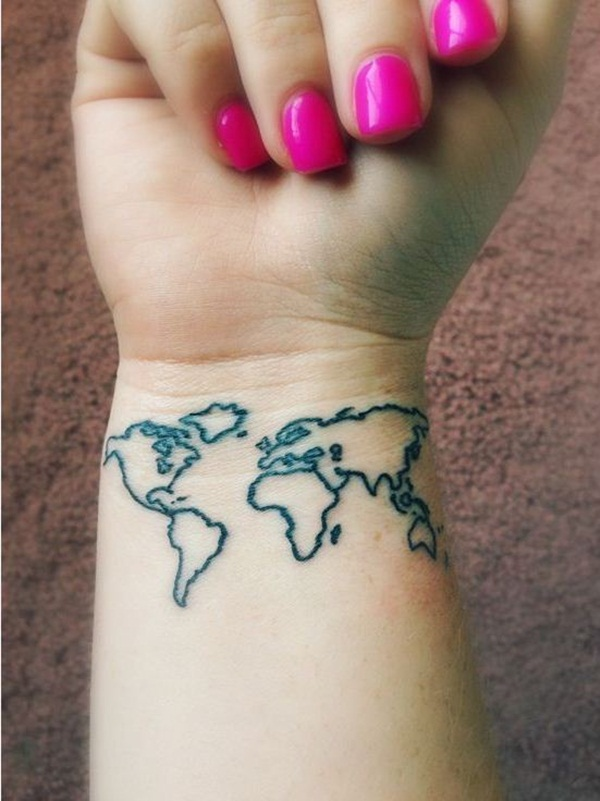 Smart Map Tattoo Design and Ideas (2)