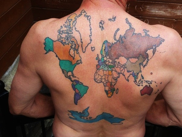 Smart Map Tattoo Design and Ideas (23)