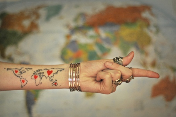 Smart Map Tattoo Design and Ideas (29)