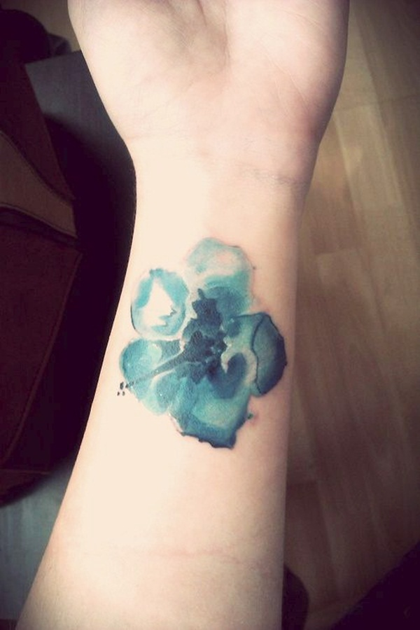 Impossibly Beautiful Water Color Tattoo Designs (11)
