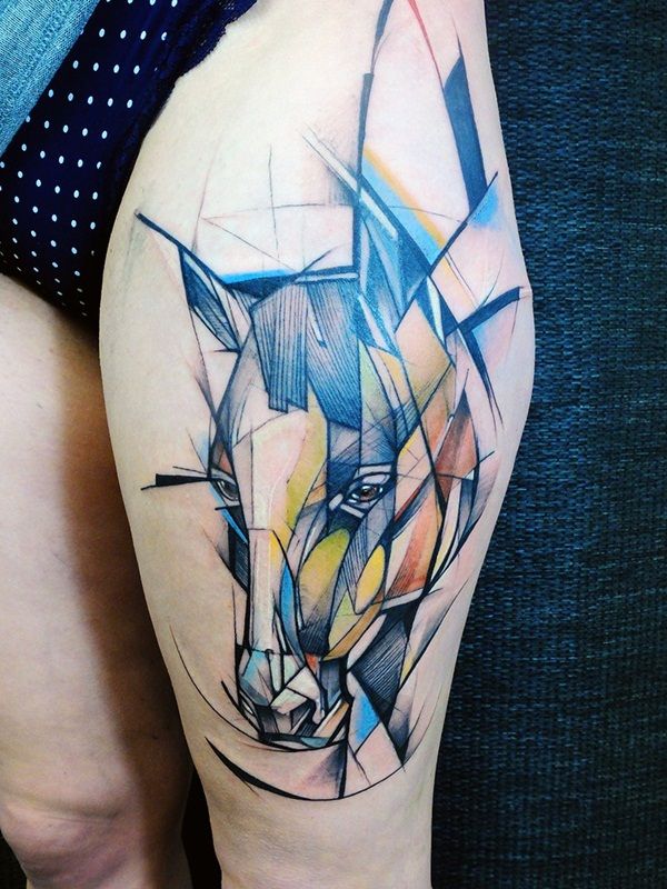 Impossibly Beautiful Water Color Tattoo Designs (25)
