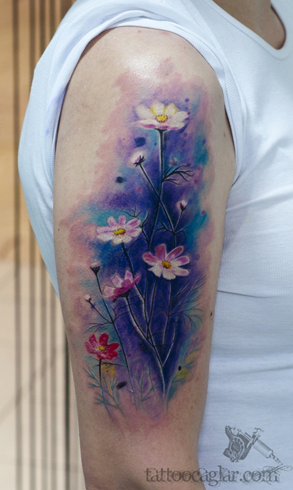 Impossibly Beautiful Water Color Tattoo Designs (26)
