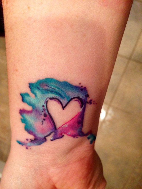 Impossibly Beautiful Water Color Tattoo Designs (5)