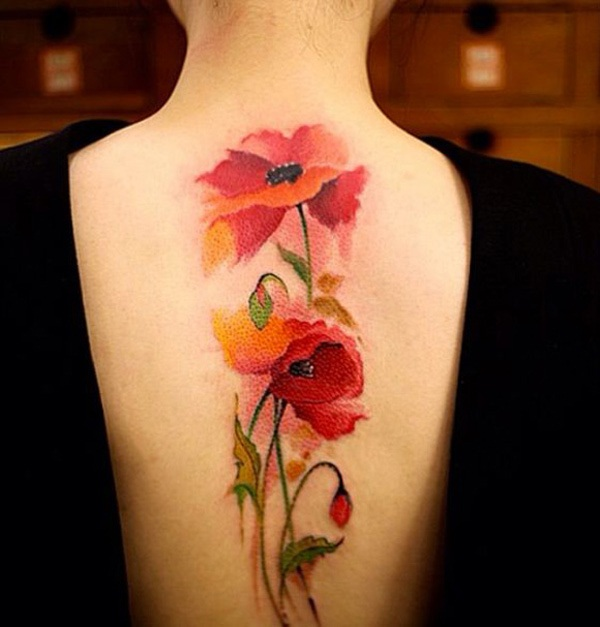 Impossibly Beautiful Water Color Tattoo Designs (8)
