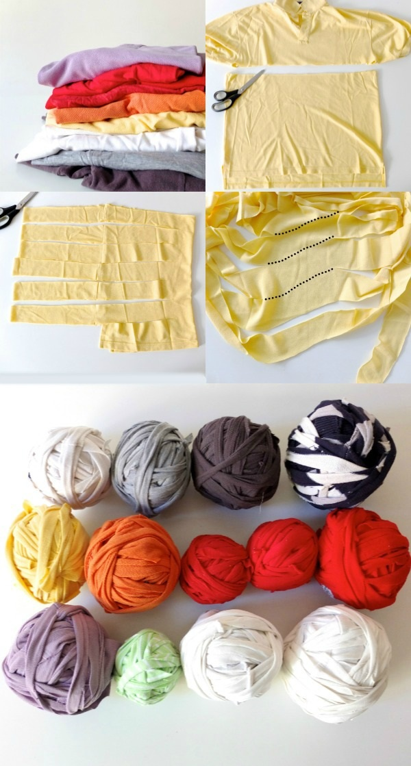 How to Make Braided Rugs with Old T-Shirt (1)