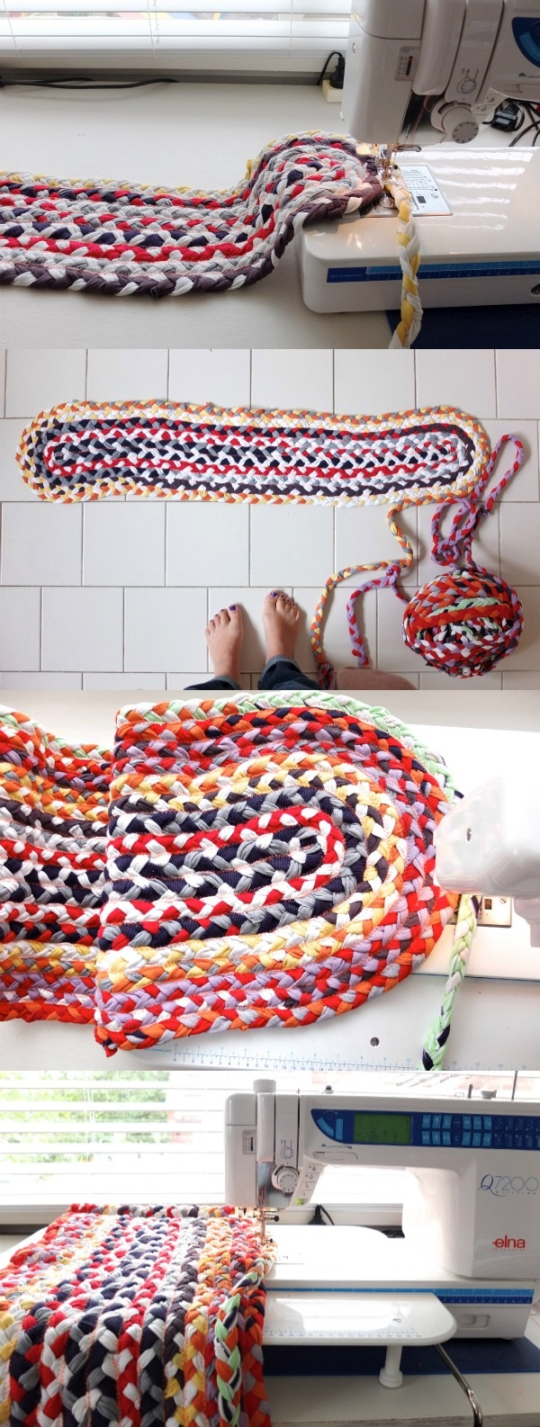 How to Make Braided Rugs with Old T-Shirt (7)