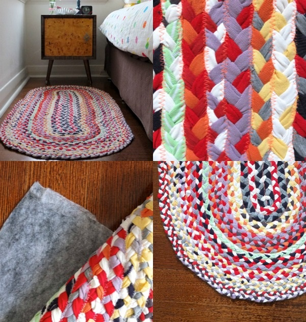 How to Make Braided Rugs with Old T-Shirt (8)