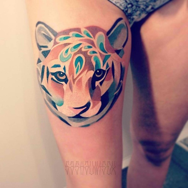 Impossibly Beautiful Water Color Tattoo Designs (29)