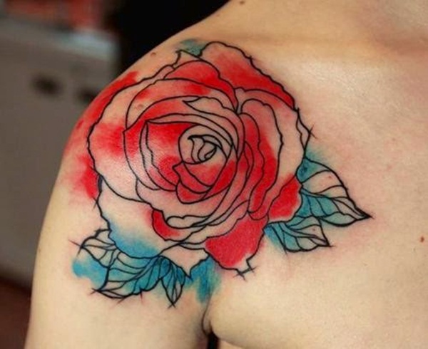 Impossibly Beautiful Water Color Tattoo Designs (30)