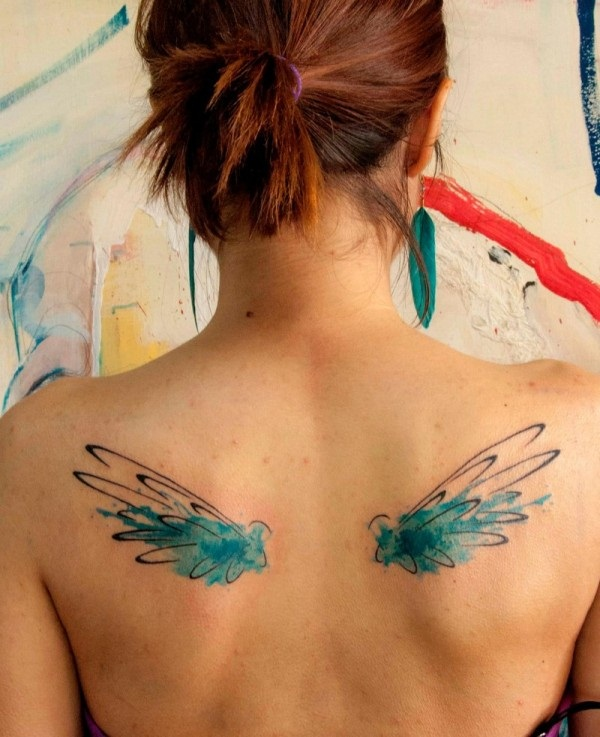 Impossibly Beautiful Water Color Tattoo Designs (35)